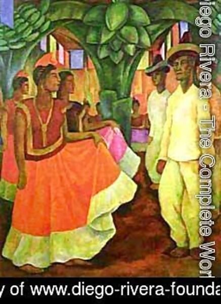 Diego Rivera - Dance in Tehuantepec